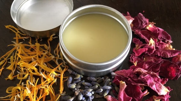 DIY Winter Skin Salve with Flower Power - Calendula, Red Rose, and Lavender